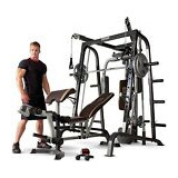 Marcy MD-9010G Smith Cage Workout Machine Total Body Training Home Gym System