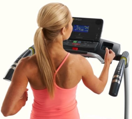 Our Best Priced Folding Treadmill The Lifespan TR12001 Console