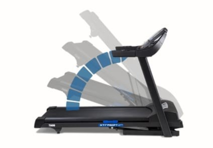 Easy Folding With Lift Assist Tech On The TR600 Treadmill