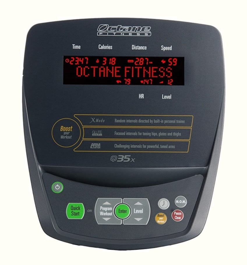 The Control Panel Of The Octane Fitness Best Value Elliptical Trainer