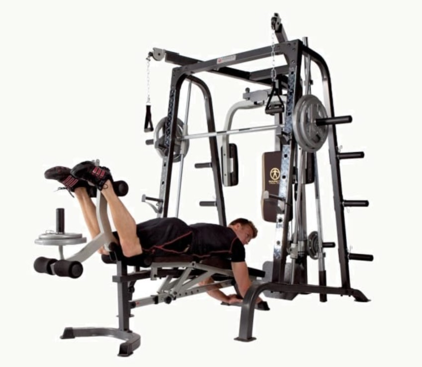 It Is Easy To Configure Your Exercise Any Way You Need To On This Complete Smith Machine