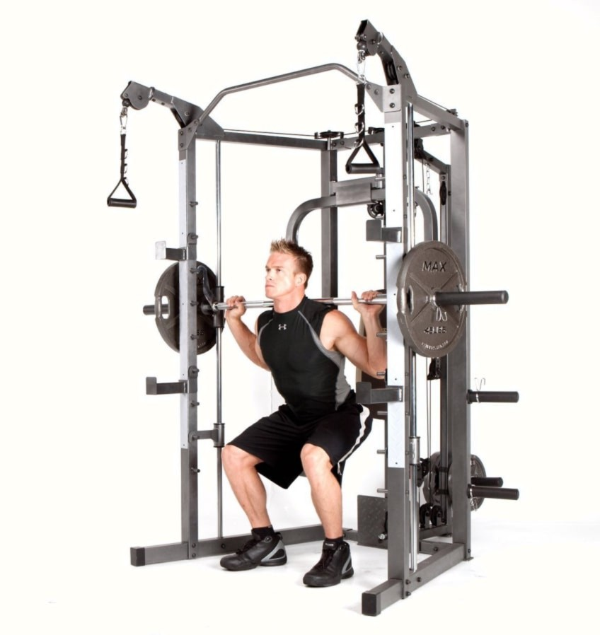 The Weight Bar on The Marcy SM-4008 In This Review
