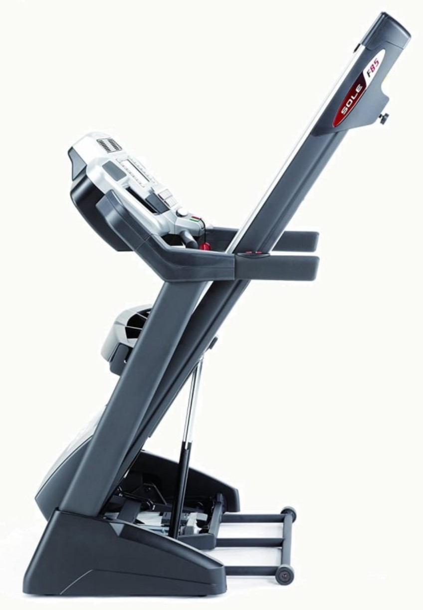 Sole Fitness F85 Folding Treadmill Review The Treadmill Is Folded Up In This Picture