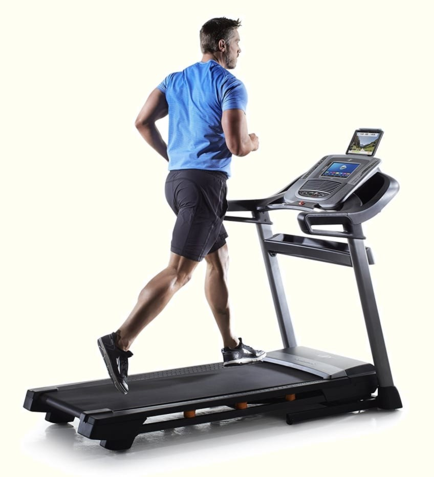 Man Runnning On NordicTrack C1650 The Best Value Treadmill For Home Gym Use