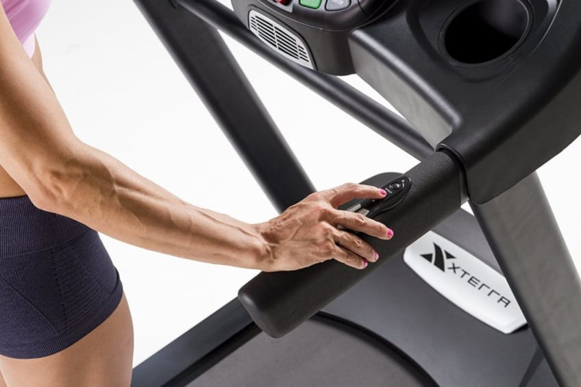 Side controls of the Xterra Fitness TR600 Treadmill Are Very Handy
