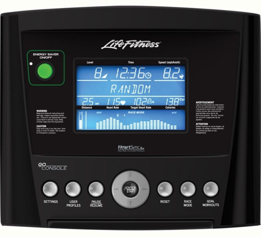 E1 Go console From Life Fitness