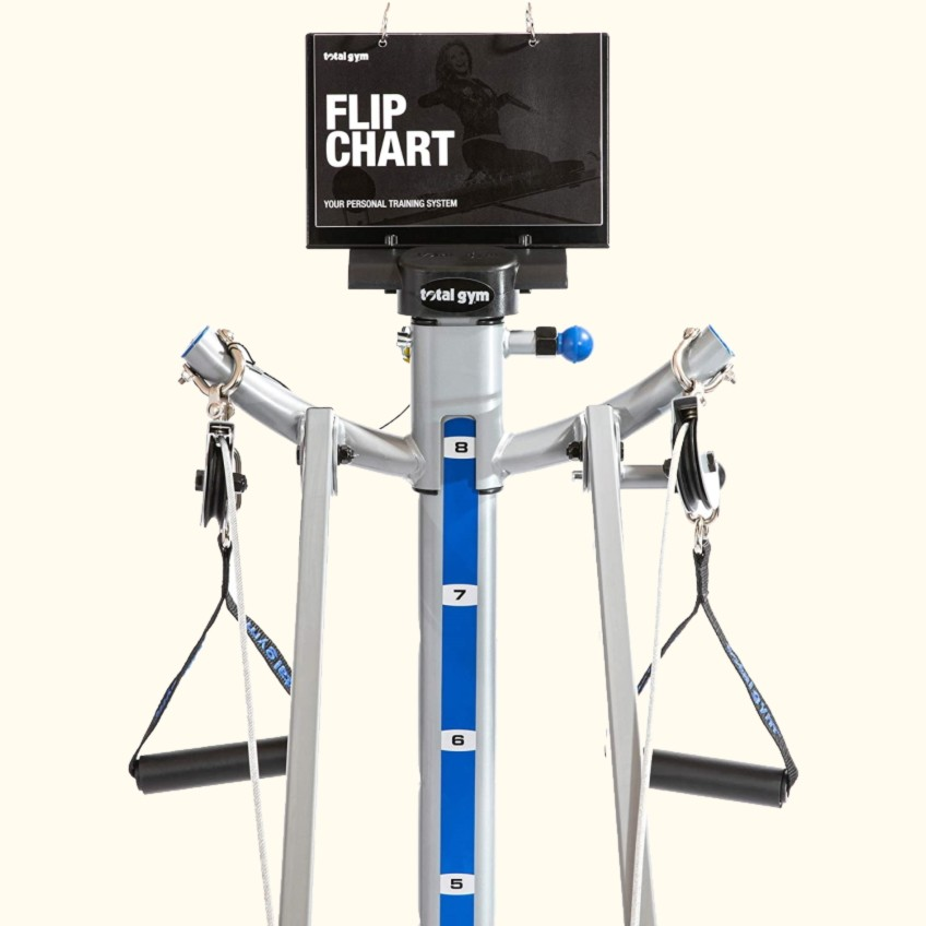 Exercise Deck Flip Chart of the Total Gym Apex G3 Home Gym