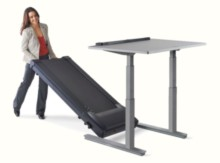 Lifespan Treadmill Desk Moveable Treadmill Track For Storage